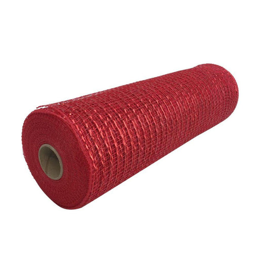 10 Inch By 10 Yard Red Metallic Mesh