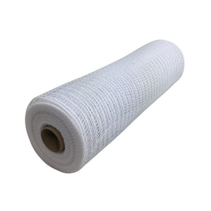 10 Inch By 10 Yard White Metallic Mesh