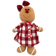 "11"" Gingerbread Peppermint Flannel Ornament - 2 Styles"
