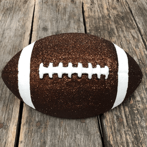 "11"" Glittered Decorative Football Sitter"