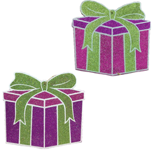 "11"" Holiday Gift Box Ornaments - 2 Styles"