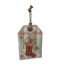 "11.75"" Wooden Holiday Hanging Signs"