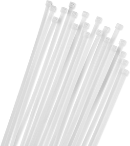 White 8 Inch Zip Ties 1000 Per Bag