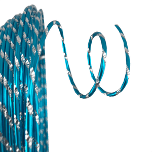 12 Gauge x 32.8' Diamond Cut Deco Wire - Turquoise