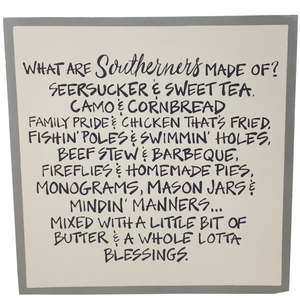 "12"" Southerners Wood Plaque"