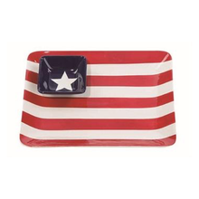 "12.5"" Ceramic Chip & Dip Americana Platter Set"