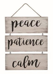 "12.75"" Wooden ""Relaxing Sayings"" Hanging Decor Sign - 2 Styles"