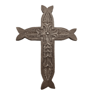 "13"" x 18"" Poly Stone Wall Cross"