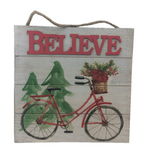 "13.25"" Wooden Christmas Wall Art Sign - 2 Styles"
