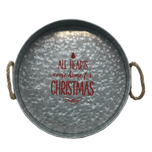 "14"" Home for Christmas Round Tray"