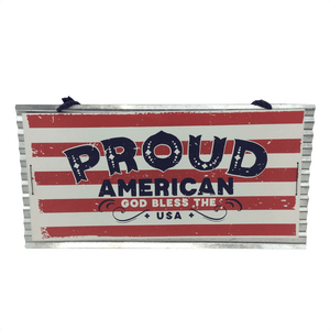 "14.5"" Wooden Hanging Americana Decor - 3 Styles"