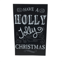"15"" Chalkboard Sign - Holly Jolly Christmas"