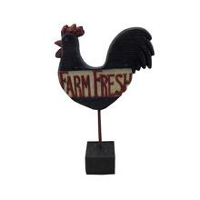 "15"" Resin Old Time Rooster Figurine - Two Styles"