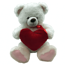"15"" White Plush Valentine's Day Teddy Bear"