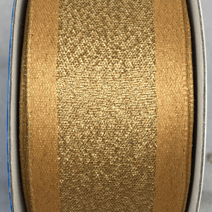 "1.5"" x 10 YDS Gold Glitter Ribbon"