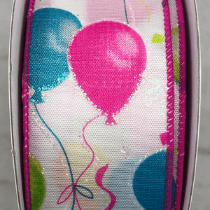 "1.5"" x 10 YDS Multi-Colored Balloons Ribbon"