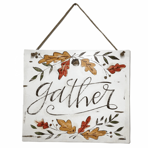 "15"" x 15"" ""Gather"" Door & Wall Sign"