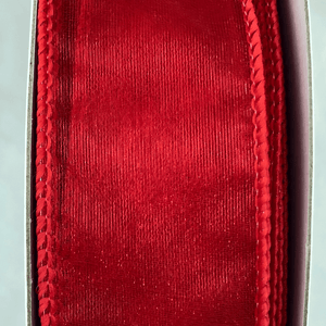 "1.5"" x 50 YDS Sheer Red Ribbon"