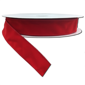 "1.5"" x 50 YDS Wired Velvet Ribbon - Red"