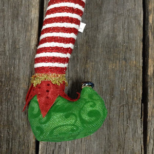 "16.5"" Plush Elf Leg Spray"