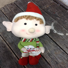 "18"" Large Plush Elf Sitters with Jumbo Head - 2 Styles"