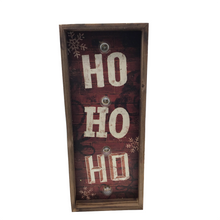 "19"" ""Ho Ho Ho"" Wall Art With Lights"