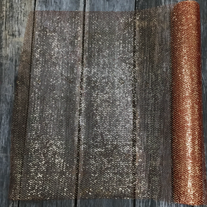 "20"" x 10 YDS 14KT Red and Gold Glitz Netting"