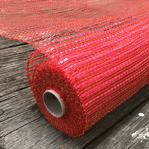 "20"" x 10 YDS Designer Netting - Basket Weave Red"