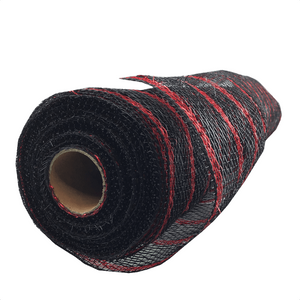 "20"" x 10 YDS Designer Netting - Black with Red Foil"