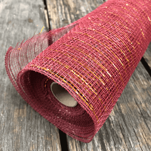 "20"" x 10 YDS Designer Netting - Burgundy with Copper Glamour"
