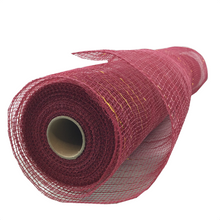 "20"" x 10 YDS Designer Netting - Burgundy with Gold Glamour"