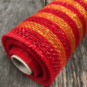 "20"" x 10 YDS Designer Netting - Glitz Red"