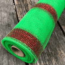 "20"" x 10 YDS Designer Netting - Lime with Red Laser Glamour"