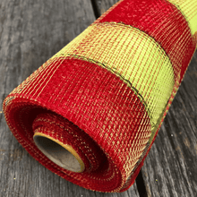 "20"" x 10 YDS Designer Netting - Plaid Red Apple with Lime Glamour Foil"