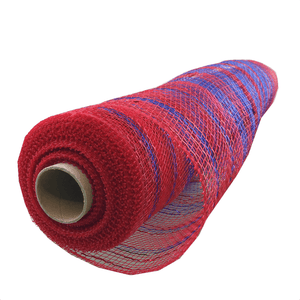 "20"" x 10 YDS Designer Netting - Red and Royal Spirits"