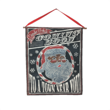 "21"" Coming Soon Santa Christmas Vinyl Banner"