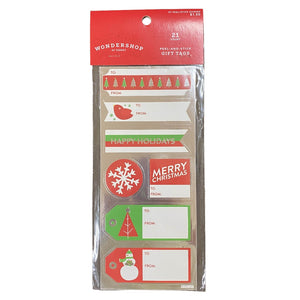 21 Count Peel-And-Stick Gift Tags