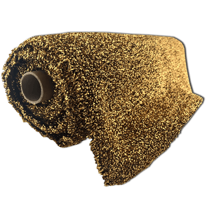 "22"" Curly Foil Fabric - Gold"
