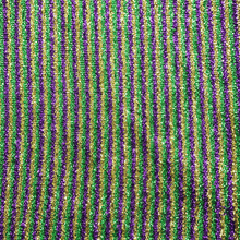 "22"" Curly Foil Fabric - Purple, Green, & Gold"