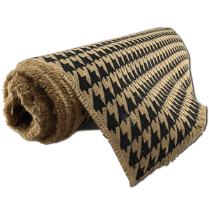 "22"" x 10 YDS Designer Burlap - Natural With Houndstooth Pattern"