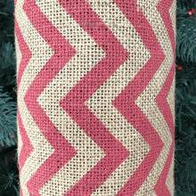 "22"" x 10 YDS Designer Burlap - Natural With Red Pattern"