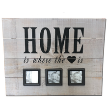 "22"" x 28"" Home Wood Sign w/ 3 Pictures"