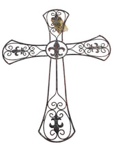 "23"" Metal Cross Washed Copper"