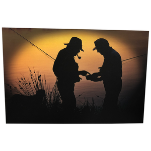 "24"" Fishing Friendship Canvas Wall Art"