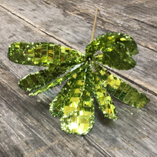 "24"" Green Sequined Daisy Spray"