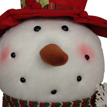 "24"" Light-Up Plush Snowman Head Ornament"