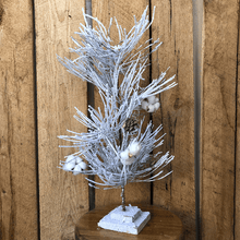 "24"" Pine/Cotton White Christmas Tree"