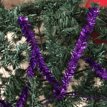 "24"" Round Tinsel Twig - 36 Tips - Purple Metallic"