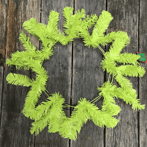"24"" Round Work Wreath - 36 Tips - Apple Lime"
