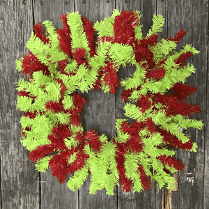 "24"" Square Canadian Pine Wreath - 170 Tips - Red/Lime"